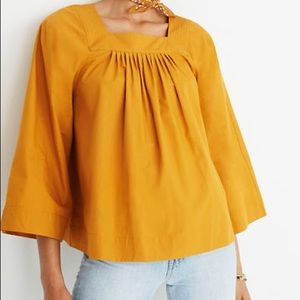 Madewell Gold Square Neck Top XL